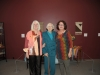 Curator Michale Lang, Artist Mary Garnham Andrews, Co-Curator, Mary-Beth Laviolette