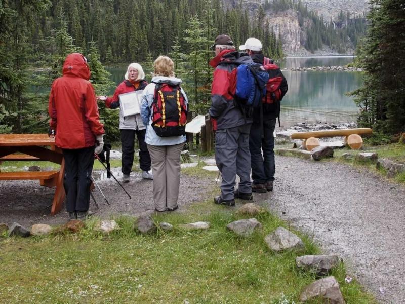 Michale Lang introducing Art Hike at Lake O\'Hara, Richard Lang, photographer